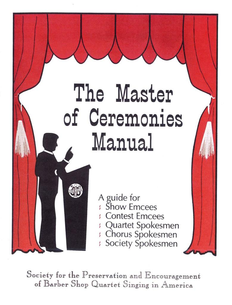 Master of Ceremonies Manual
