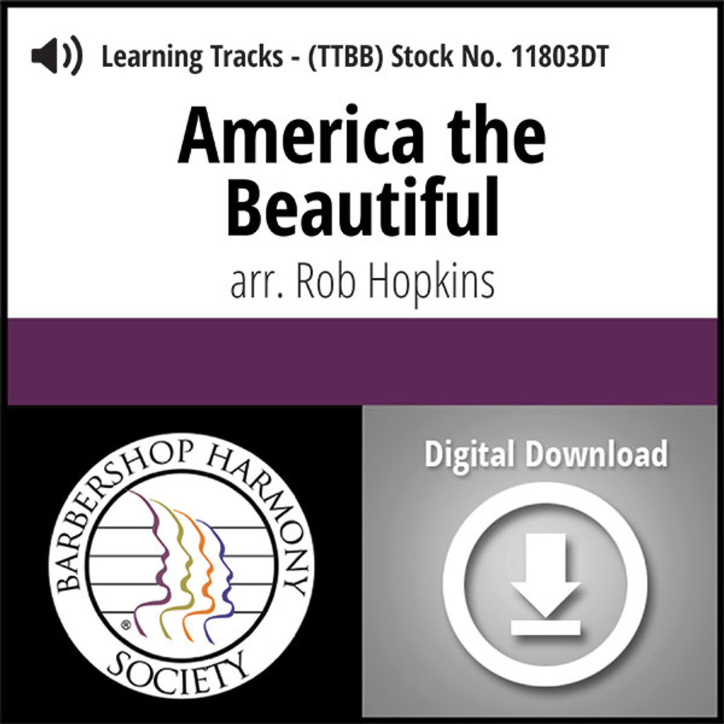 America The Beautiful (TTBB) (arr. Hopkins) - Digital Learning Tracks - for 7340