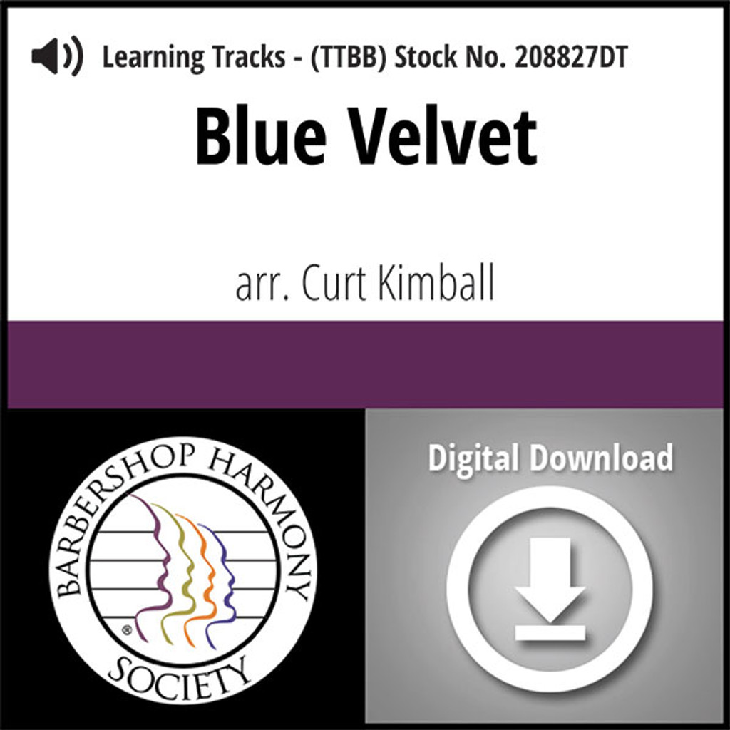 Blue Velvet (TTBB) (arr. Kimball) - Digital Learning Tracks for 208826
