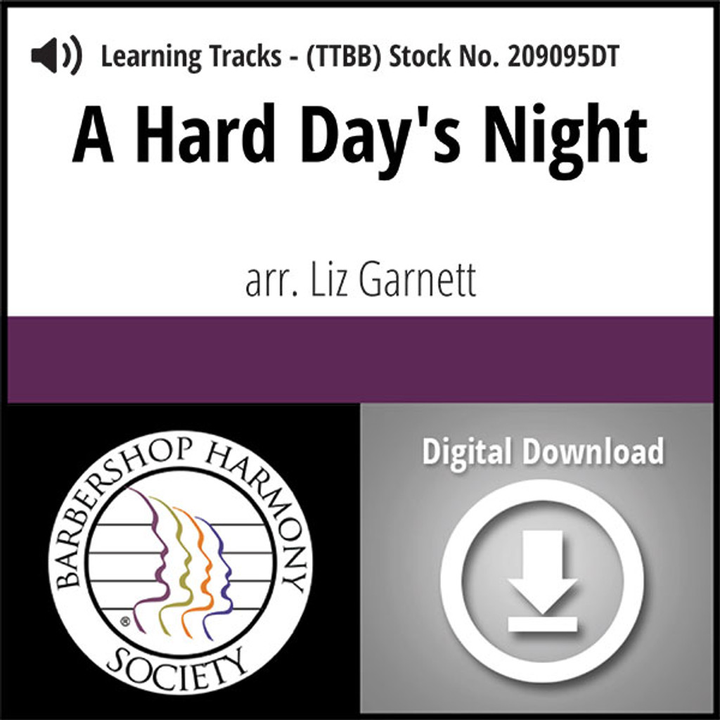 A Hard Day's Night (TTBB) (Garnett) - Digital Learning Tracks for 209094