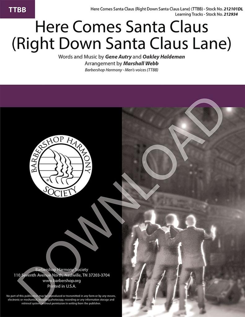 Here Comes Santa Claus (Right Down Santa Claus Lane) (TTBB) (arr. Webb) - Download