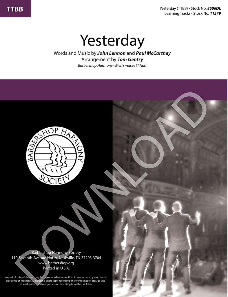 Yesterday (TTBB) (arr. Gentry) - Download