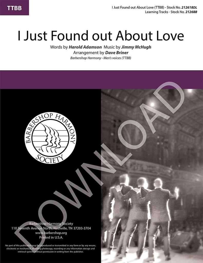 I Just Found out About Love (TTBB) (arr. Briner) - Download