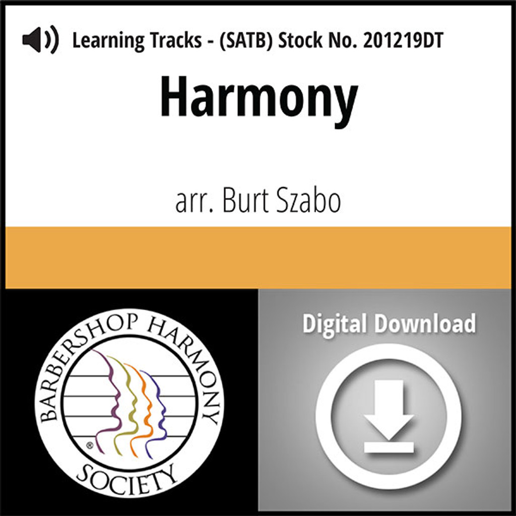 Harmony (8-Part M/W) (arr. Miller) - Digital Learning Tracks for 200092
