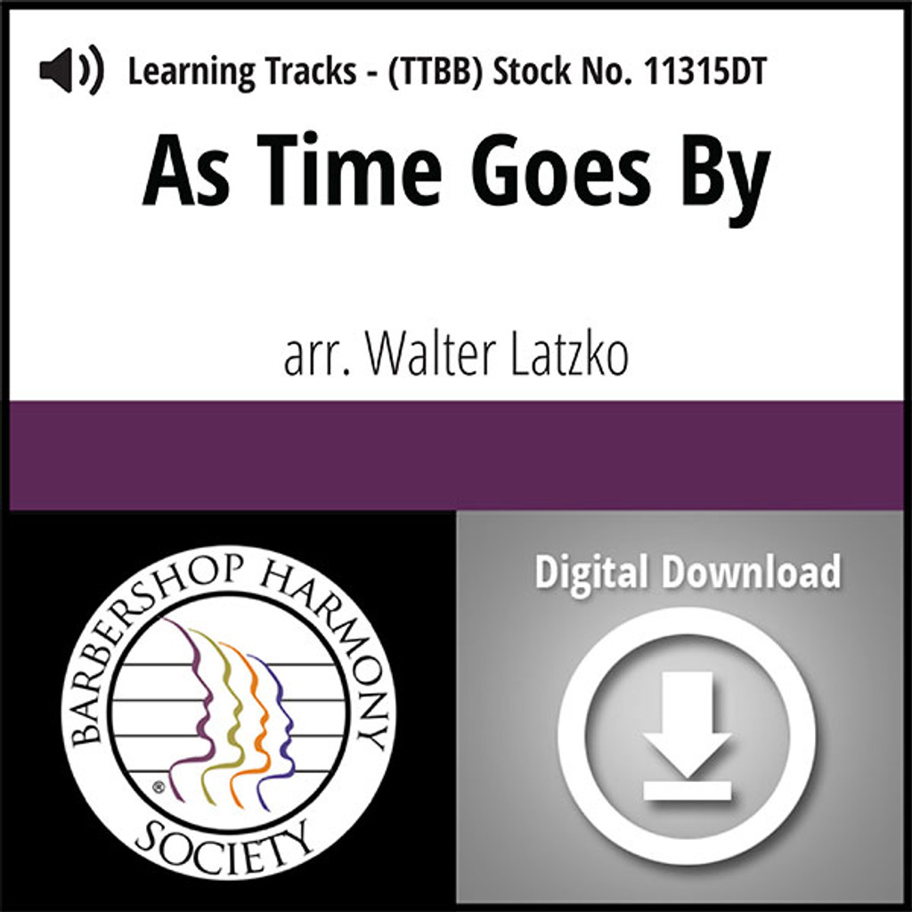 As Time Goes By (TTBB) (arr. Latzko) - Digital Learning Tracks for 8814