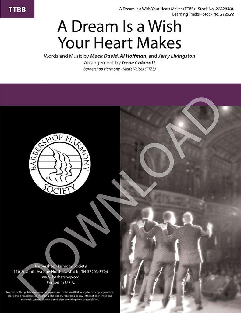 A Dream Is a Wish Your Heart Makes (TTBB) (arr. Cokeroft) - Download
