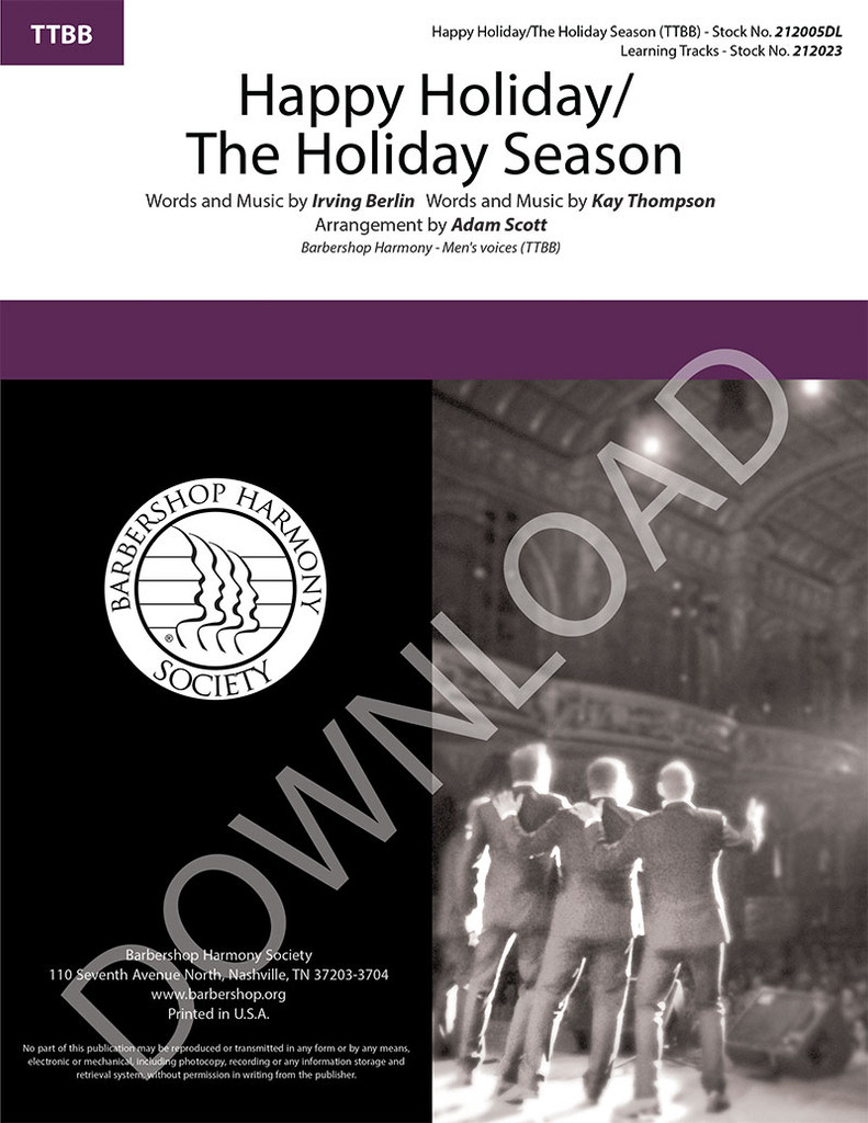 Happy Holiday/The Holiday Season (TTBB) (arr. Scott) - Download
