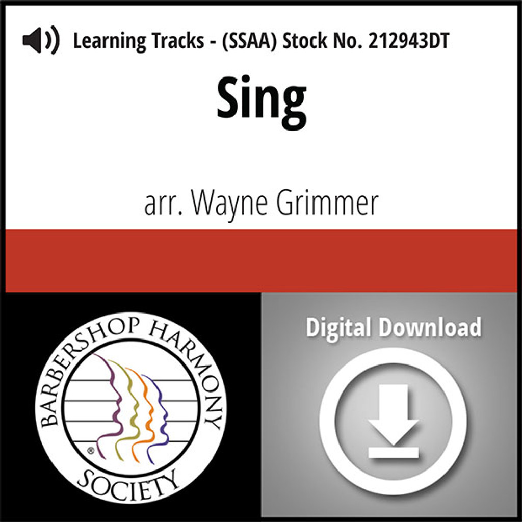 Sing (SSAA) (arr. Grimmer) - Digital Learning Tracks for 210817
