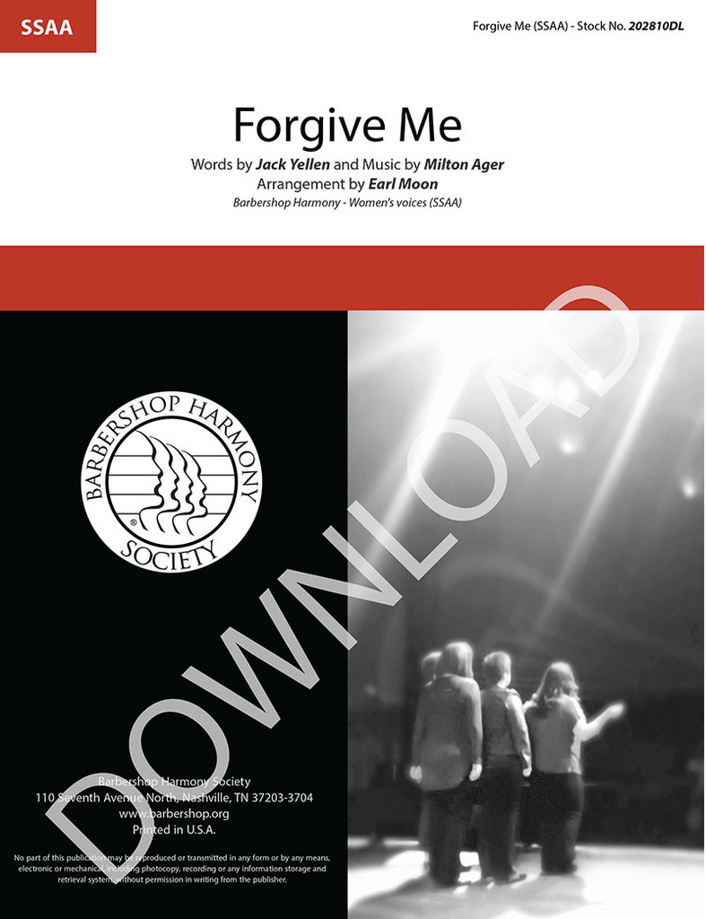 Forgive Me (SSAA) (arr. Moon) - Download