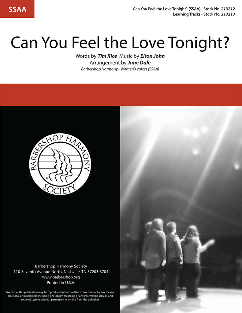 Can You Feel the Love Tonight? (SSAA) (arr. Dale)