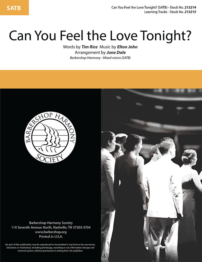 Can You Feel the Love Tonight? (SATB) (arr. J. Dale)