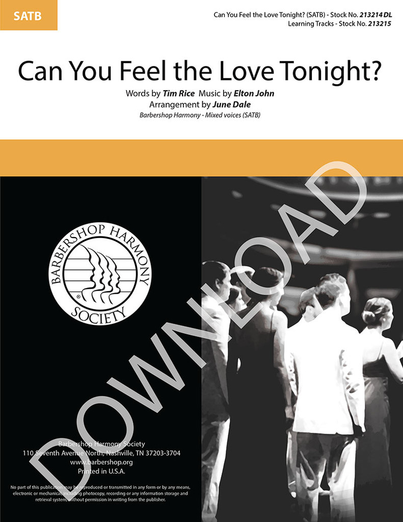 Can You Feel the Love Tonight? (SATB) (arr. J. Dale) - Download
