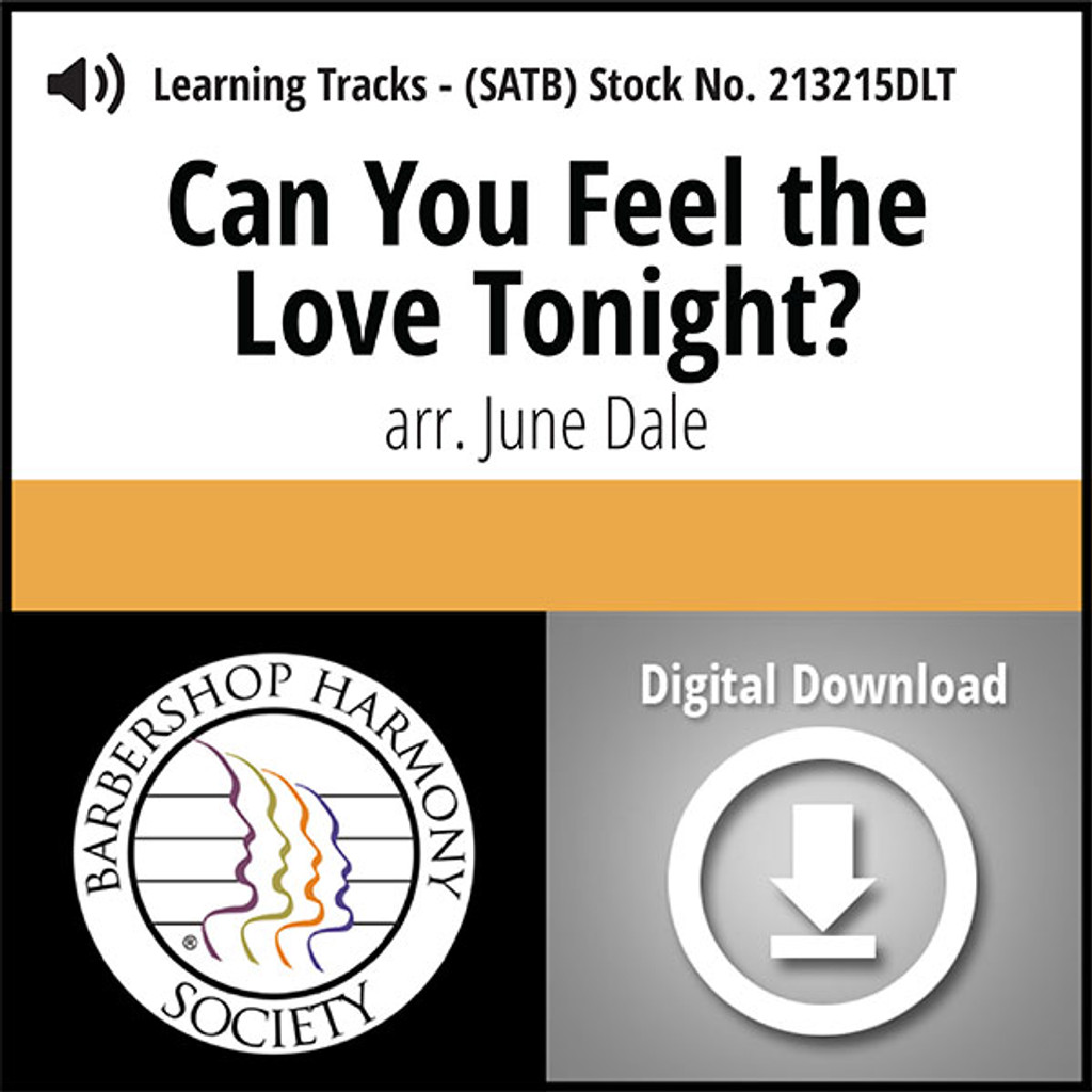 Can You Feel the Love Tonight? (SATB) (arr. J. Dale) - Digital Learning Tracks for 213214