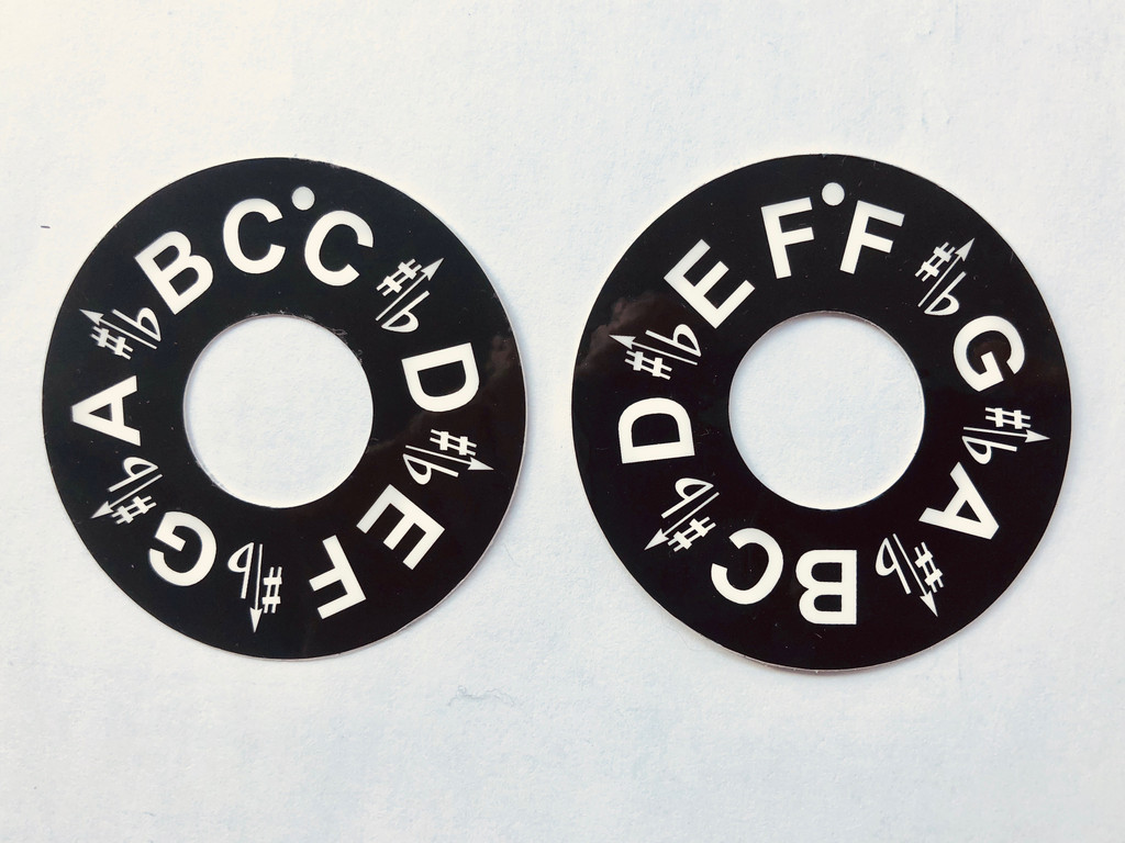 Master Key Pitch Pipe Stickers