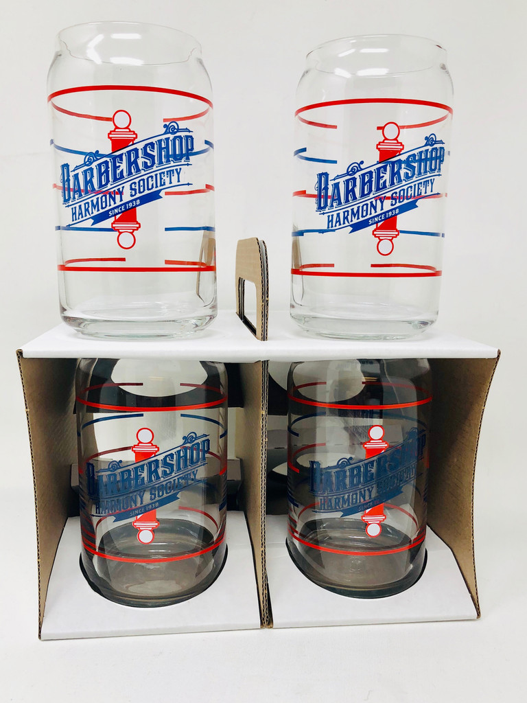 Have a barbecue coming up? Maybe hosting the next quartet rehearsal at your house?  Our Old World can glasses are a great option for entertaining, whether you are hosting few or many.  These glasses feature straight sides and an inset lip, and at 16 ounces it is the best option to pour a can full of brewed beverage into.   This box set features four of our Can Glasses       These are part of the Old World collection