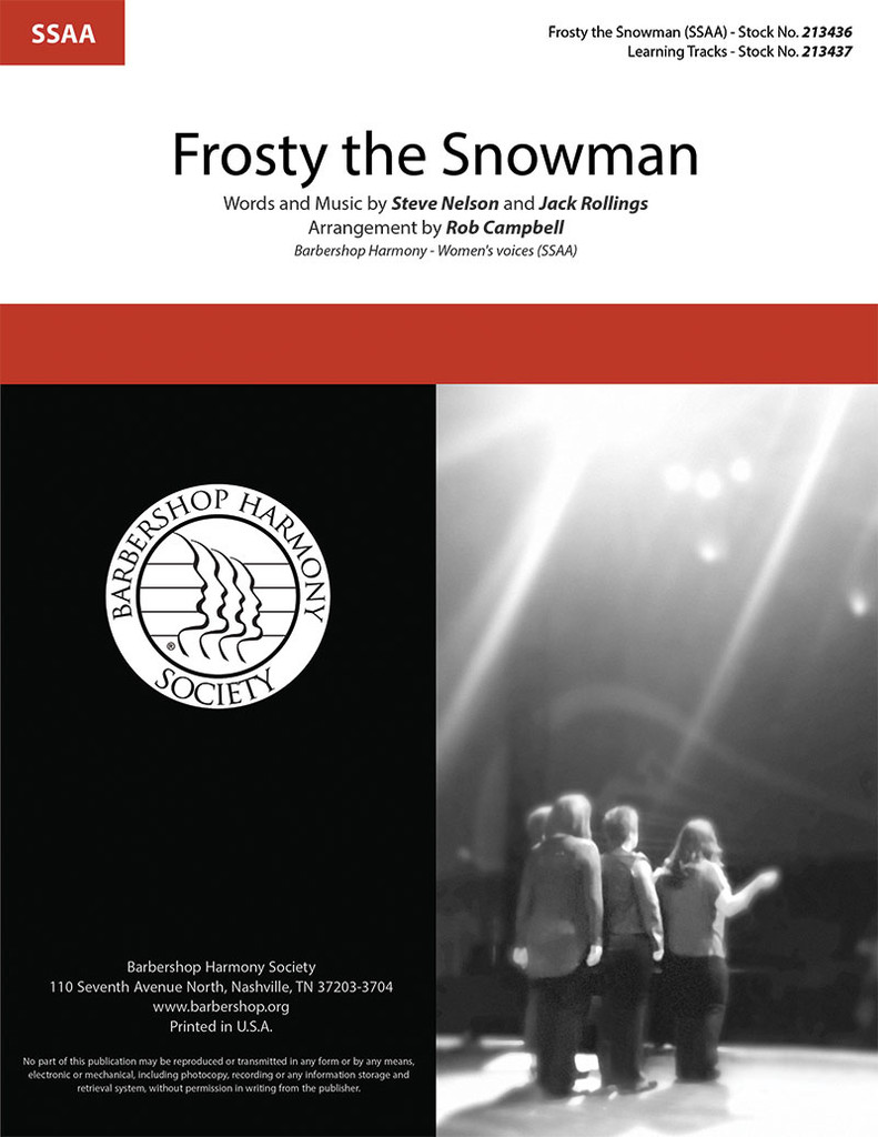 Frosty the Snowman (SSAA) (arr. Campbell)