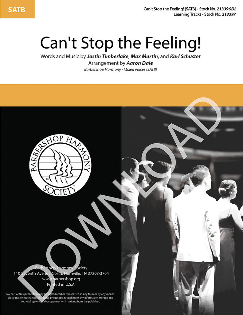 Can't Stop the Feeling! (SATB) (arr. Dale) - Download