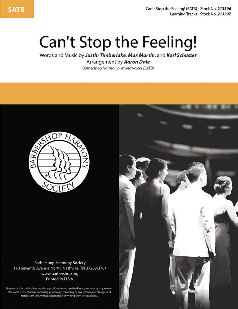 Can't Stop the Feeling! (SATB) (arr. Dale)