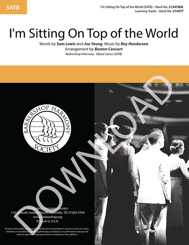 I'm Sitting On Top of the World (SATB) (arr. The Boston Consort) - Download