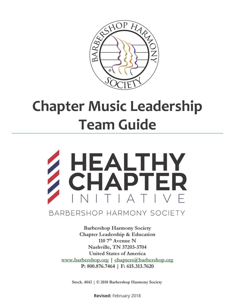 Chapter Music Leadership Team Guide - Download
