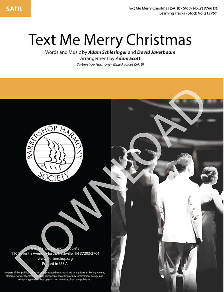 Text Me Merry Christmas (SATB) (arr. Scott) - Download