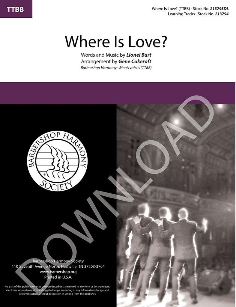 Where Is Love? (TTBB) (arr. Cokeroft) - Download