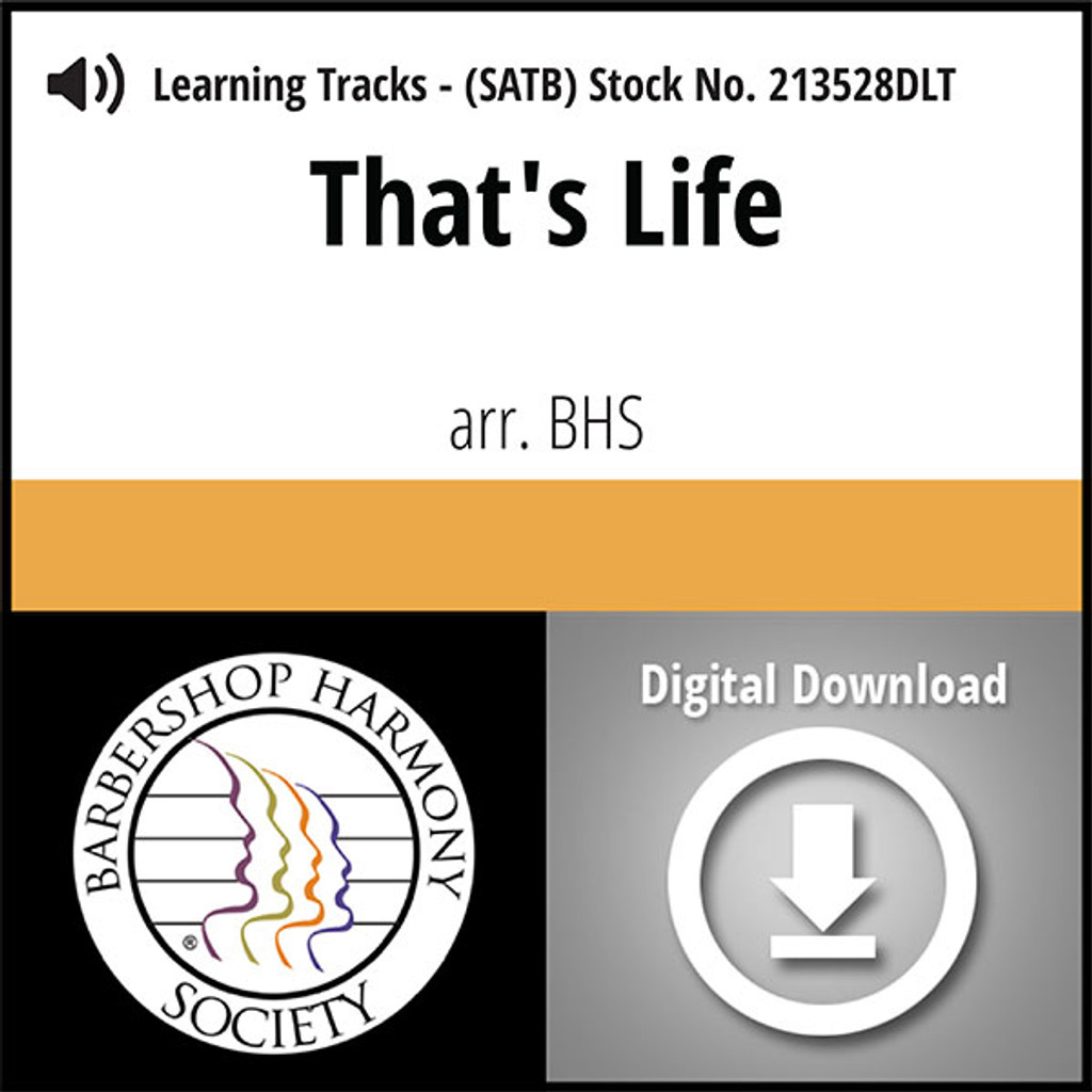 That's Life (SATB) (arr. BHS) - Digital Learning Tracks for 213527
