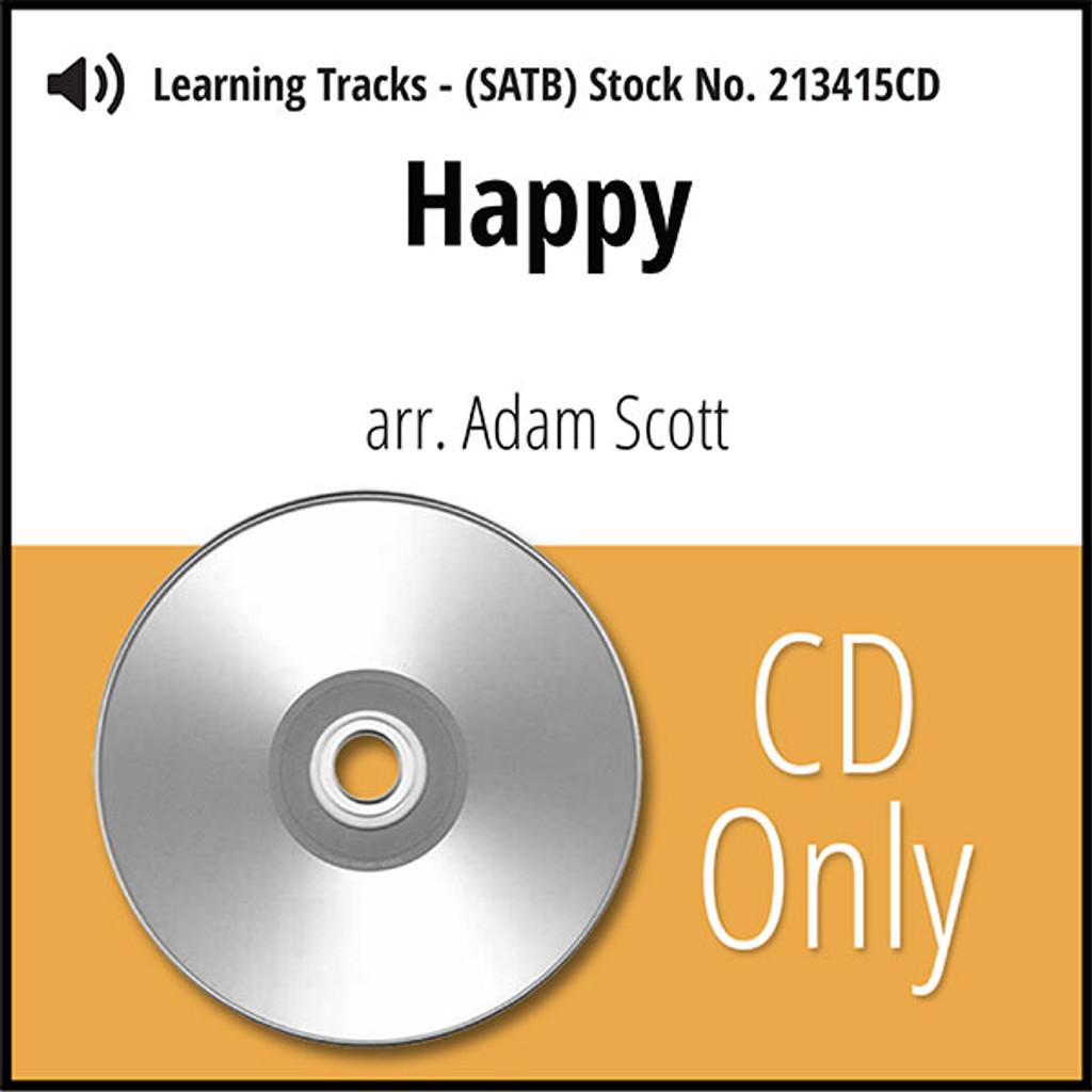 Happy (SATB) (arr. Scott) - CD Learning Tracks for 213414