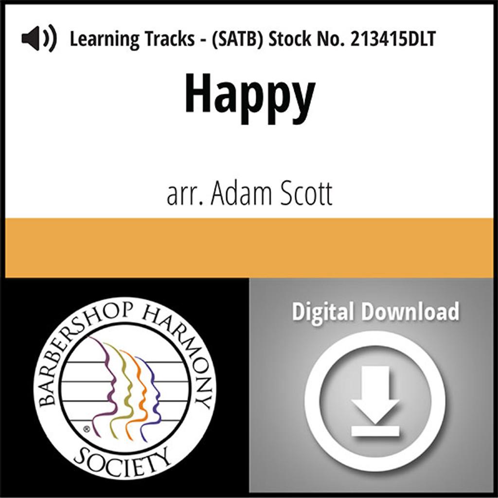 Happy (SATB) (arr. Scott) - Digital Learning Tracks for 213414