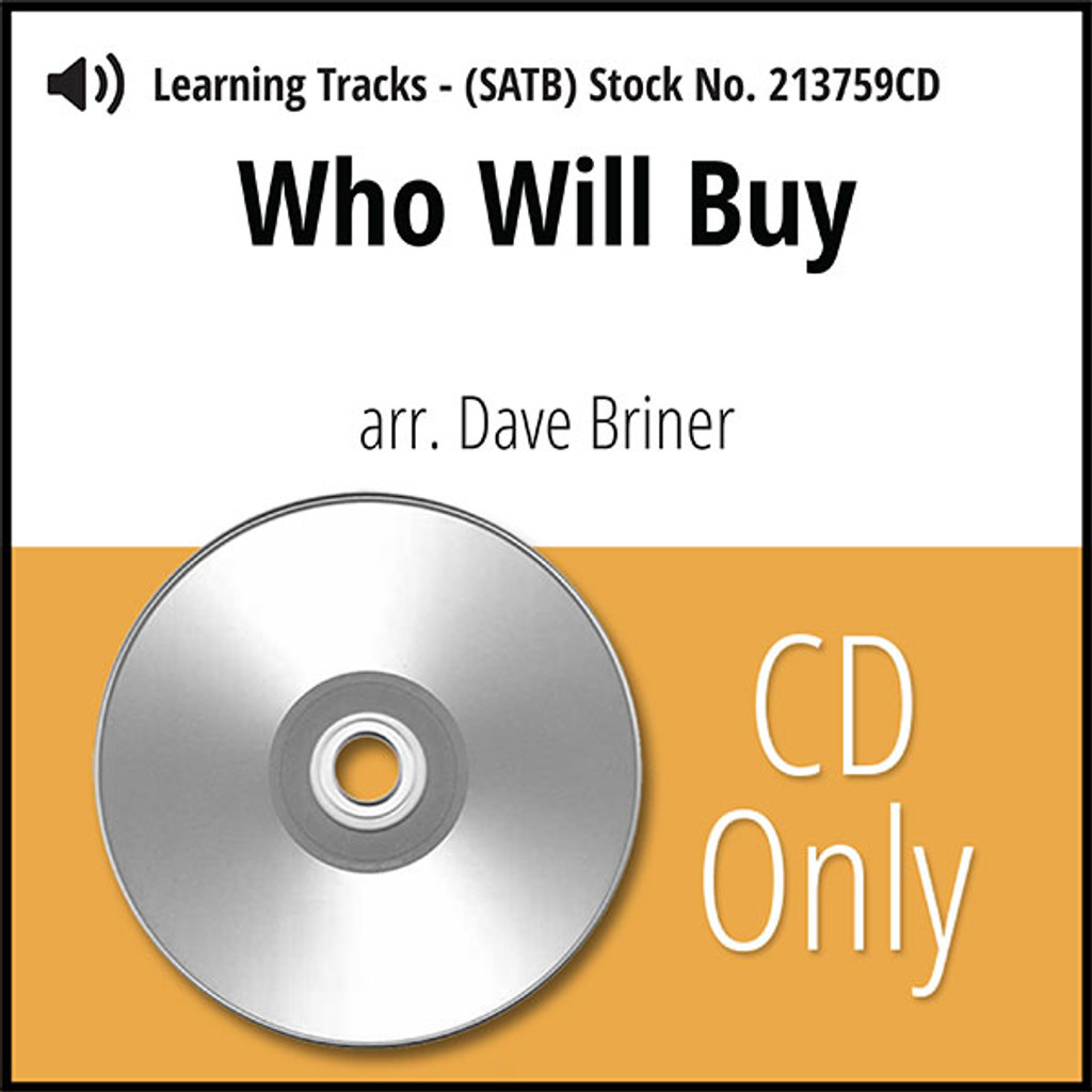 Who Will Buy (SATB) (arr. Briner) - CD Learning Tracks for 213630