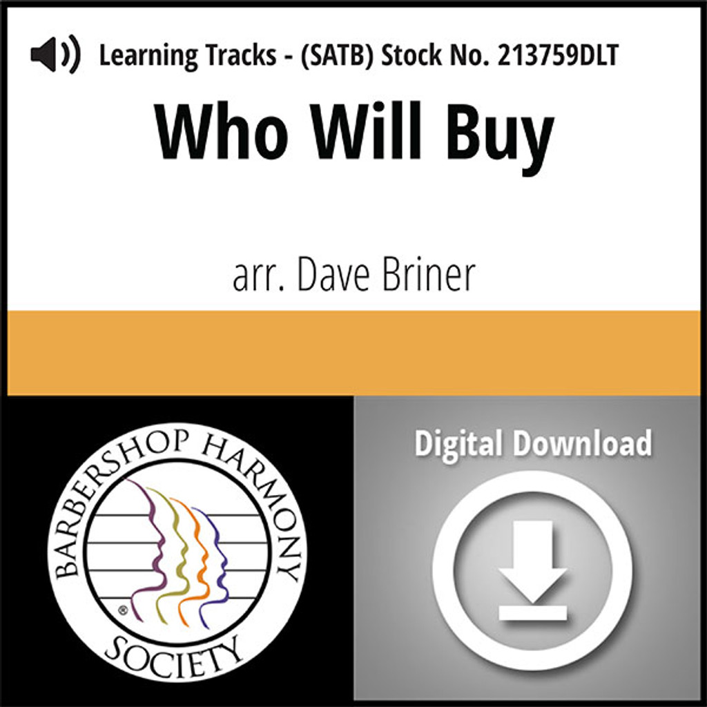 Who Will Buy (SATB) (arr. Briner) - Digital Learning Tracks for 213630