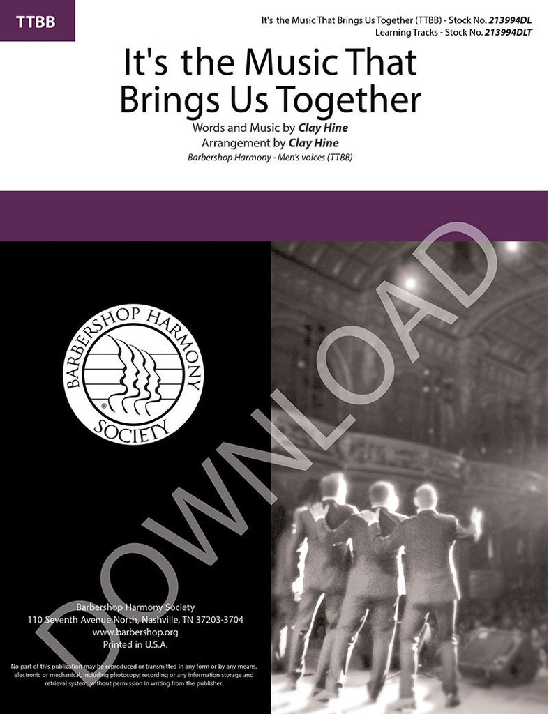It's the Music That Brings Us Together (TTBB) (arr. Hine) - Download