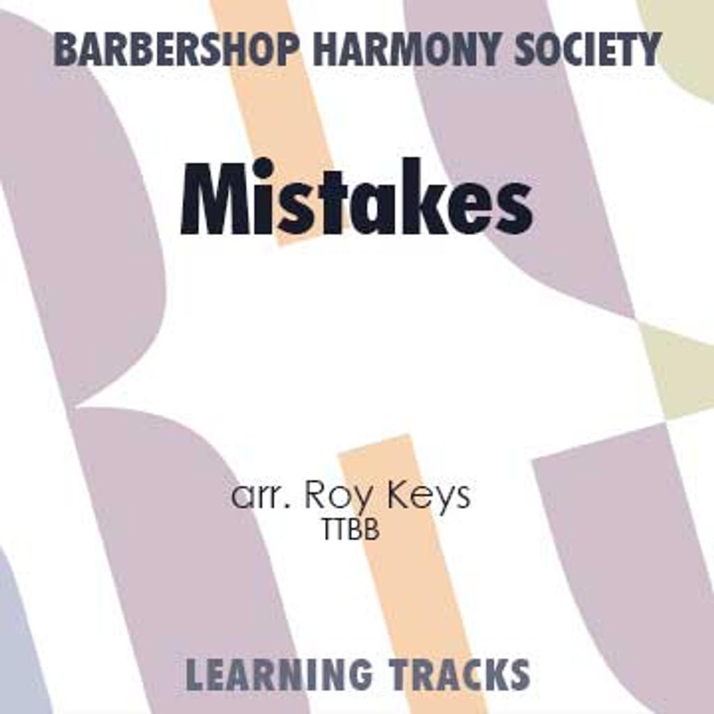 Mistakes (TTBB) (arr. Keys) - Digital Learning Tracks for 7219