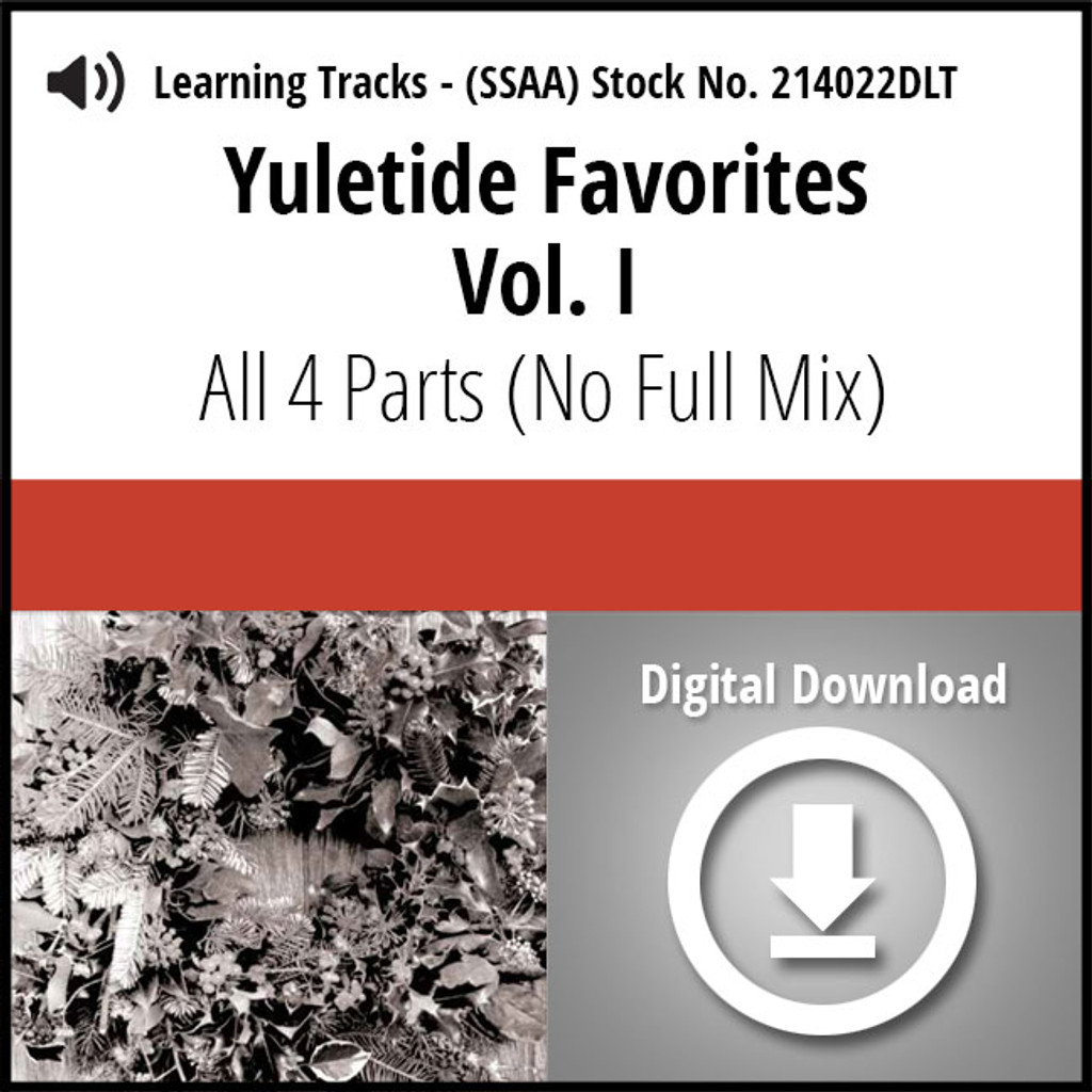 Yuletide Favorites Vol. I (SSAA) Digital Learning Tracks (All 4 Parts) (No Full Mix) for 214017