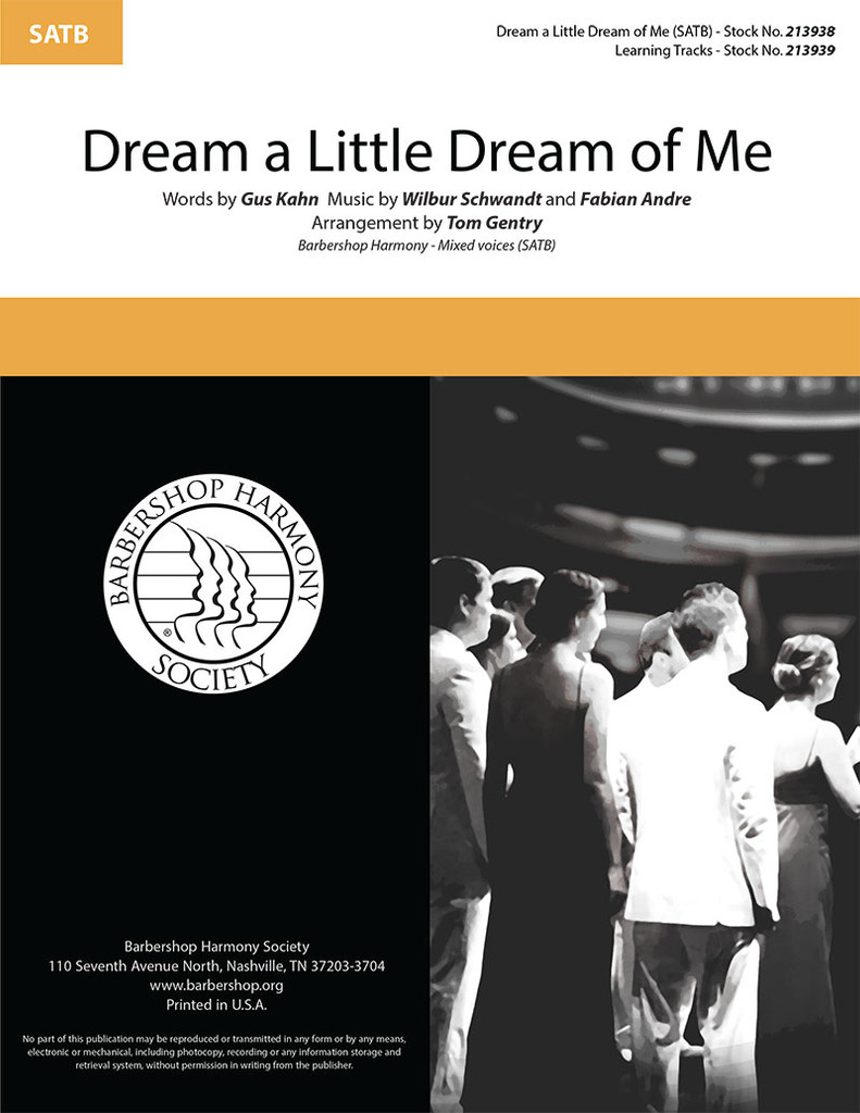 Dream a Little Dream of Me (SATB) (arr. Gentry)