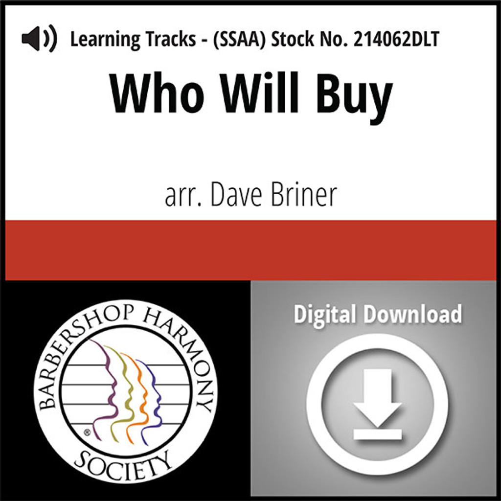 Who Will Buy (SSAA) (arr. Briner) - Digital Learning Tracks for 213629