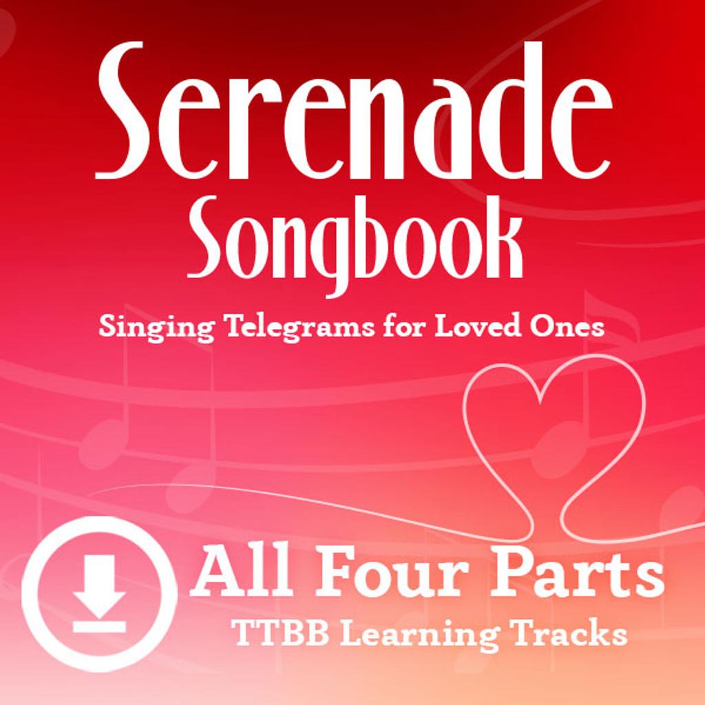 Serenade Songbook (TTBB) Digital Learning Tracks (All 4 Parts) (No Full Mix) for 214088