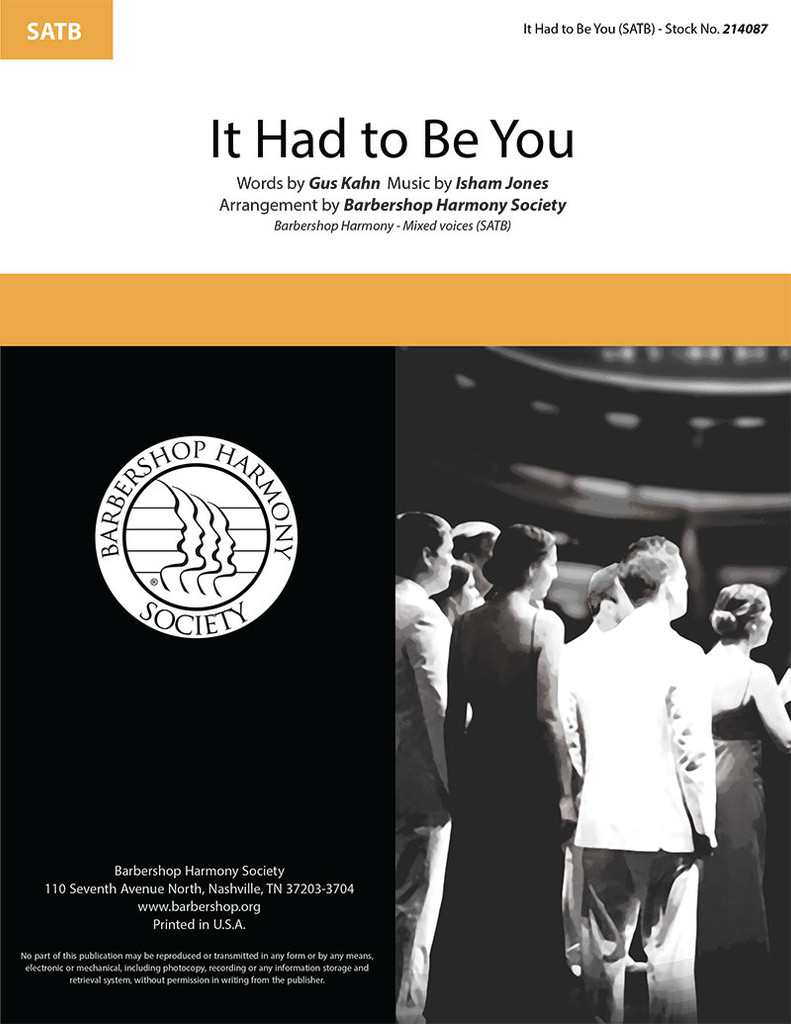 It Had to Be You (SATB) (arr. BHS)