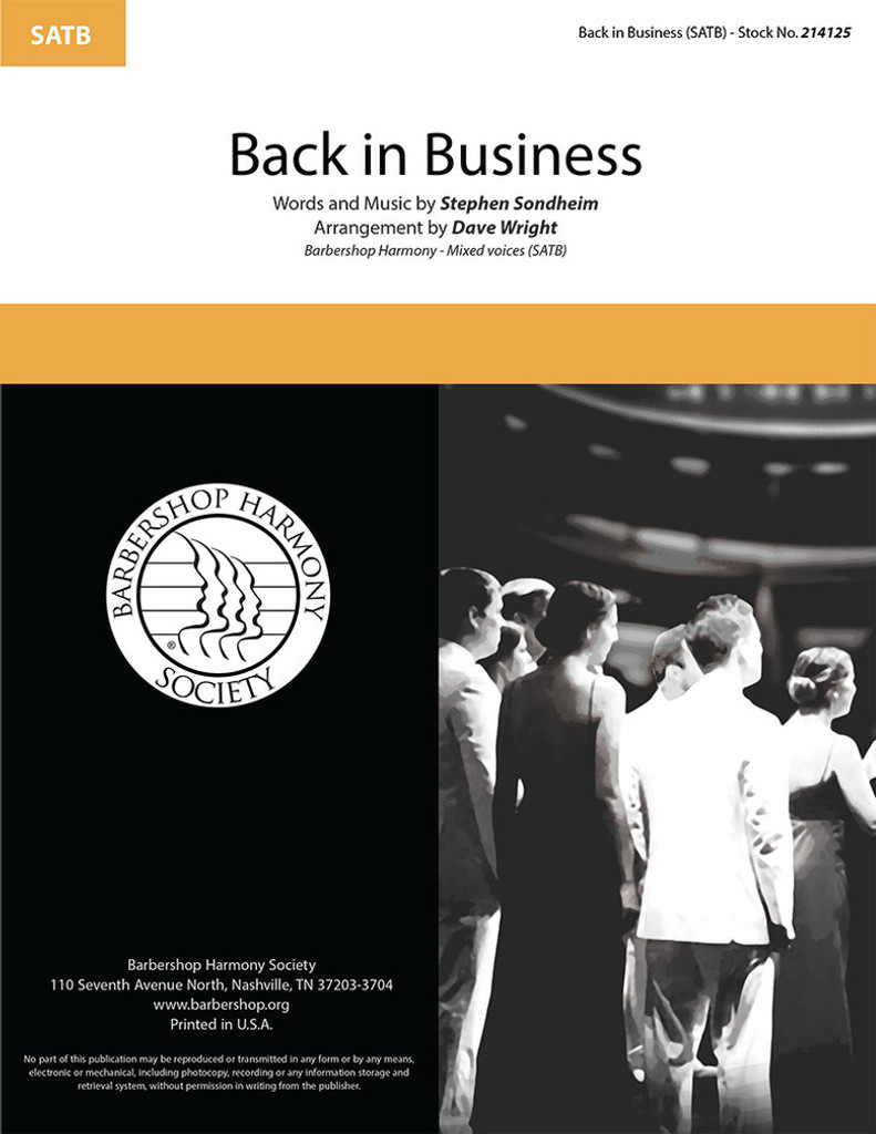 Back In Business (SATB) (arr. Wright)