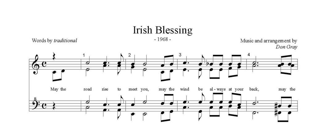 Irish Blessing (SSAA) (arr. Gray) - DOLLAR DOWNLOAD