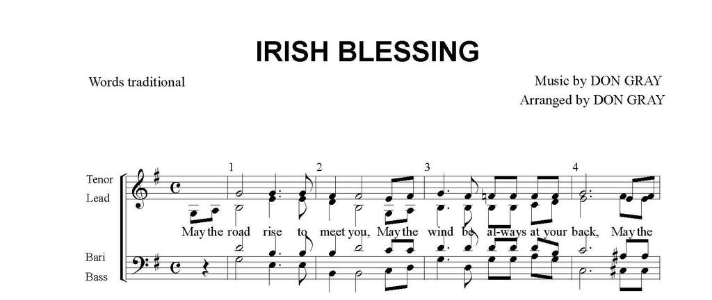 Irish Blessing (SATB) (arr. Gray) - DOLLAR DOWNLOAD