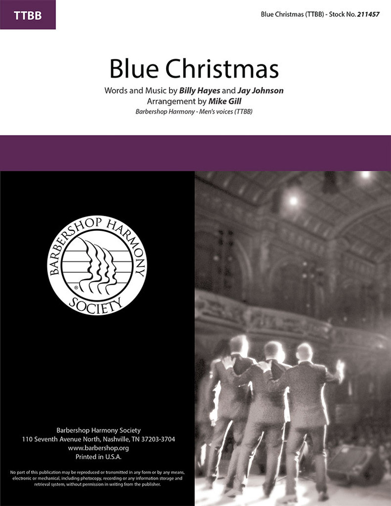 Blue Christmas (TTBB)(arr. Mike Gill) - SPECIAL ORDER