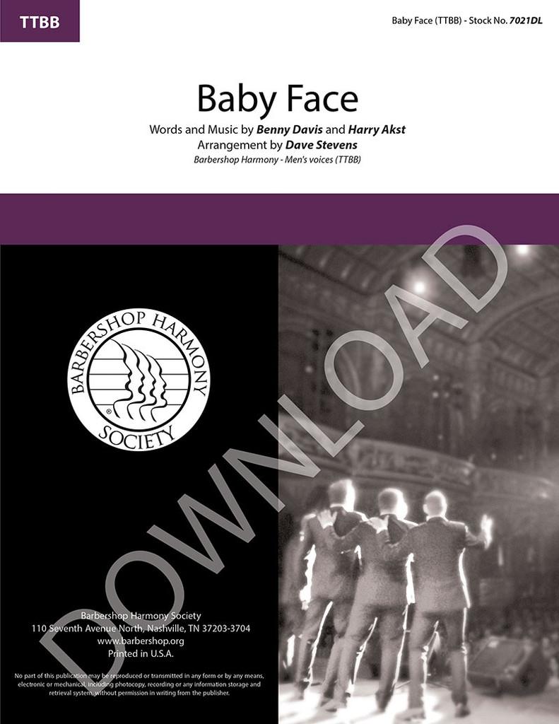 Baby Face (TTBB) (arr. Stevens) - Download