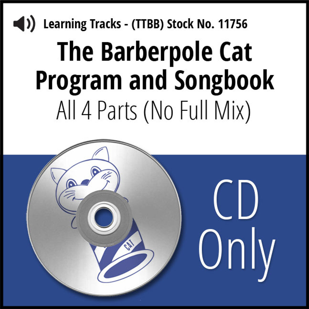 Barberpole Cat Songbook Vol. I (All 4 Parts) - CD Learning Tracks for 209064