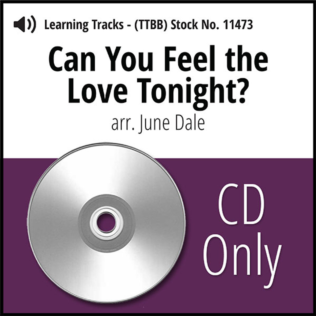 Can You Feel the Love Tonight? (TTBB) (arr. Dale) - CD Learning Tracks for 8203