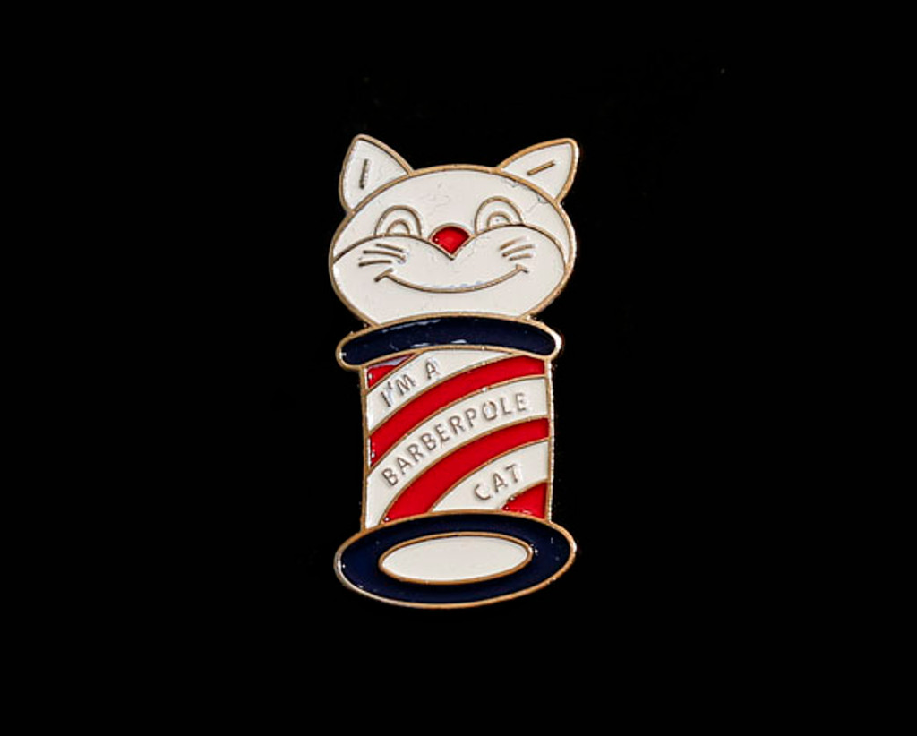 Barberpole Cat Lapel Pin (Free with Item 3030 or 3030DL)
