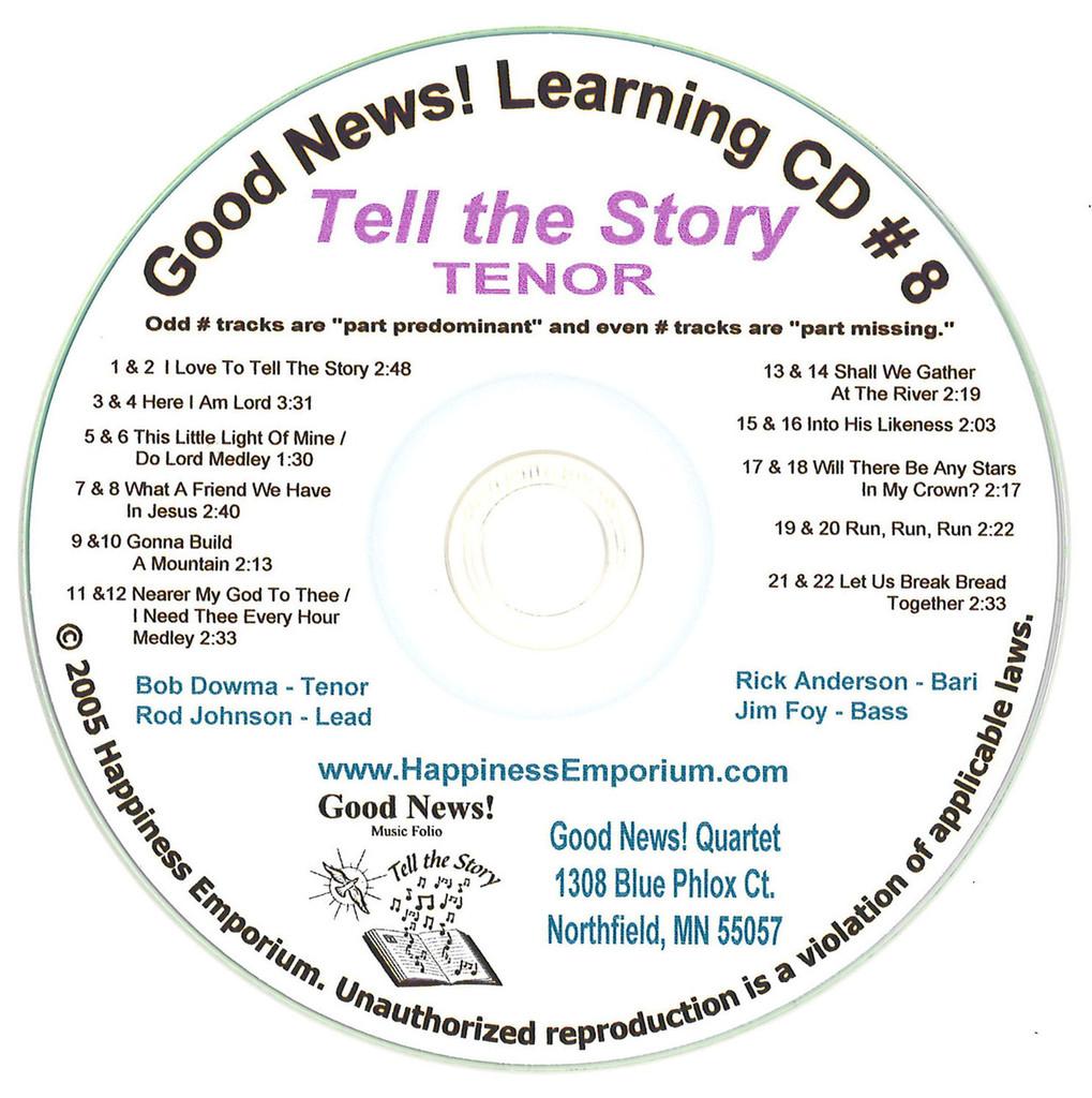 Good News Gospel Learning CD #8 Tell the Story Tenor