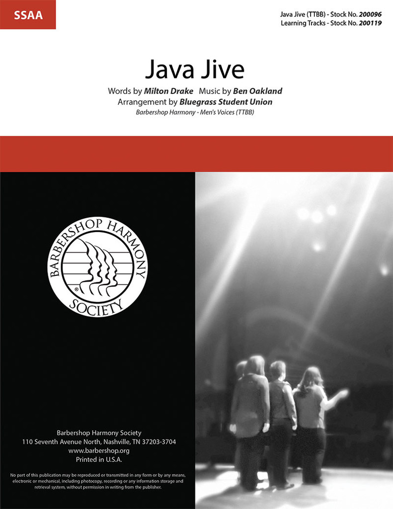 Java Jive (SSAA) (arr. Bluegrass Student Union)