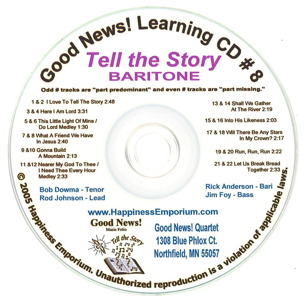 Good News Gospel Learning CD #8 Tell the Story Baritone
