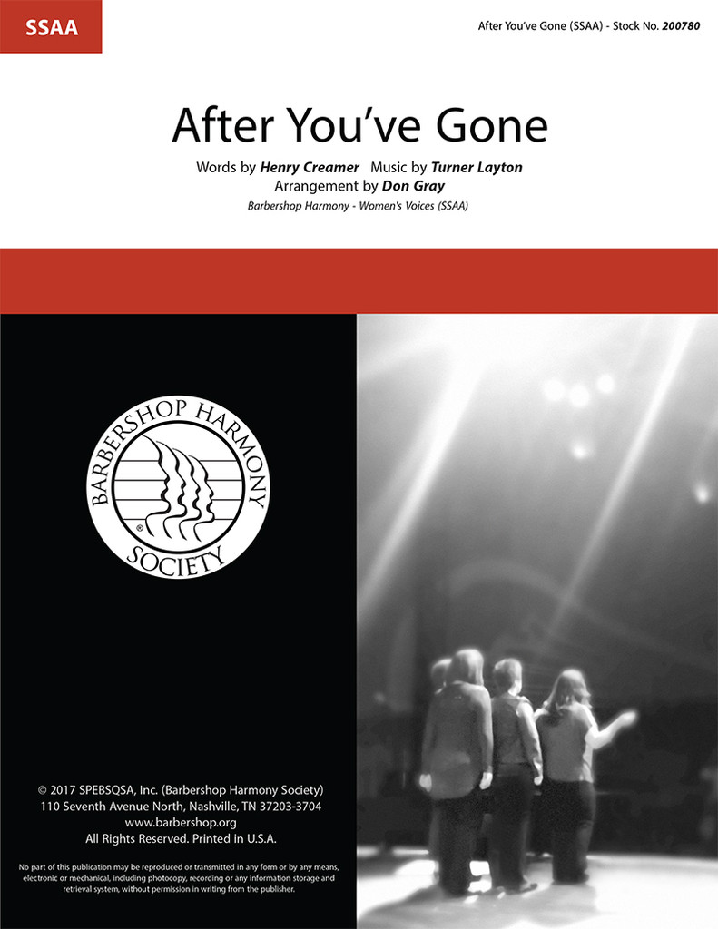After You've Gone (SSAA) (arr. Gray)